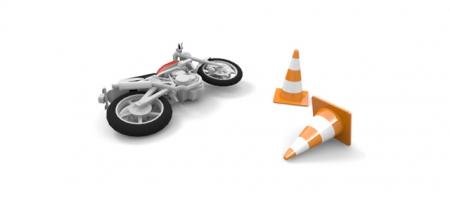 バイク事故での転倒時に痛めやすい場所